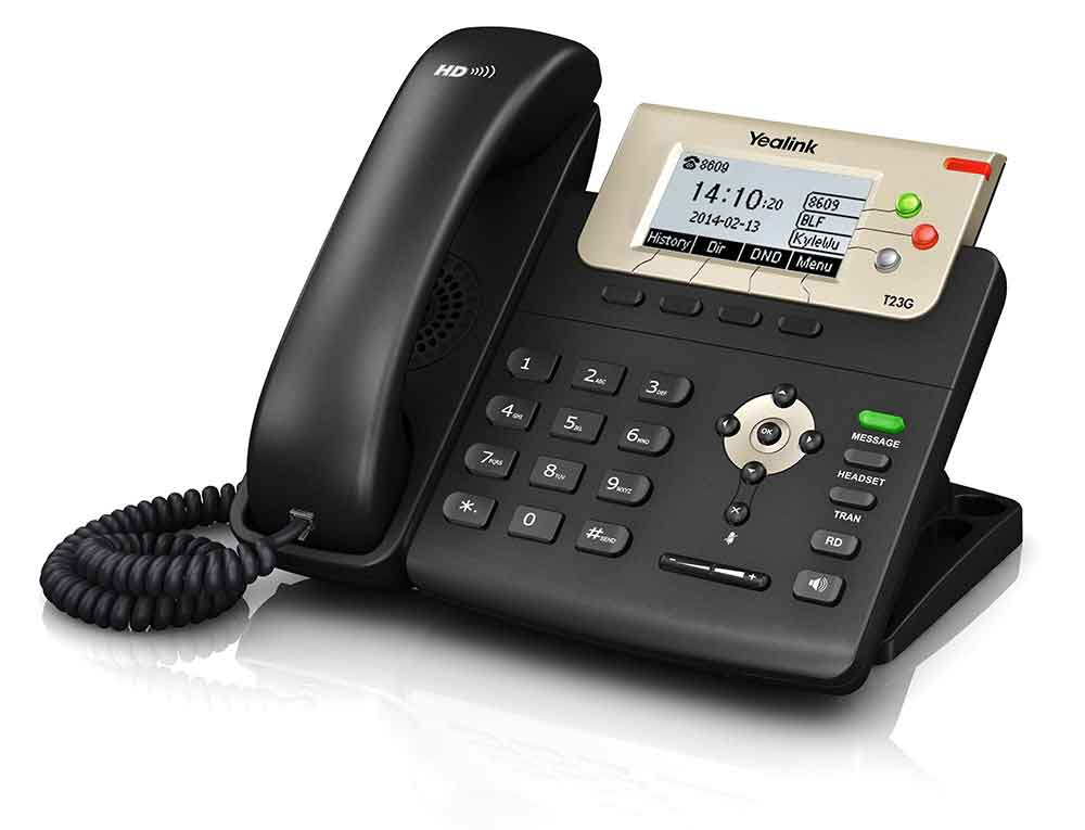 A picture of a Yealink T23G IP Handset