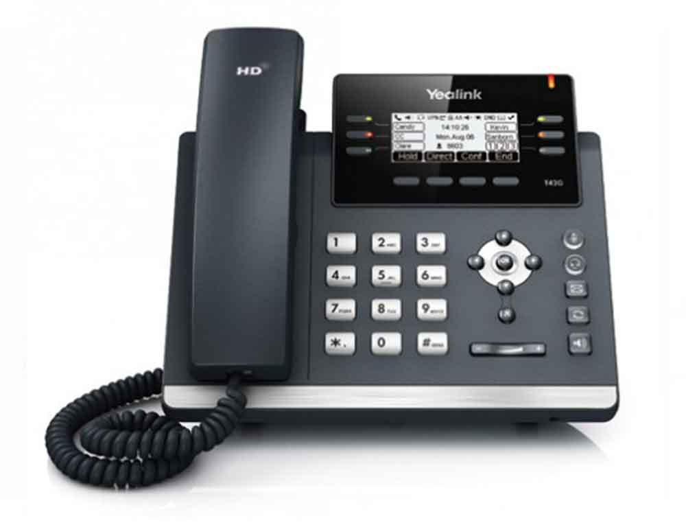 A picture of a Yealink T42S IP Handset