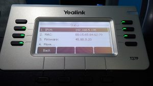 MAC Address of a Yealink Phone