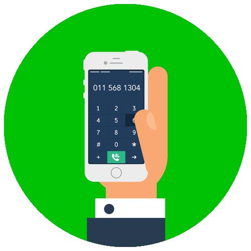 Green Mobile Landline Icon illustration